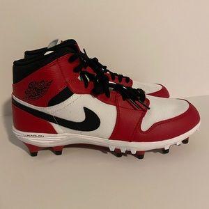 Nike air jordan 1s football cleats size 11 mens